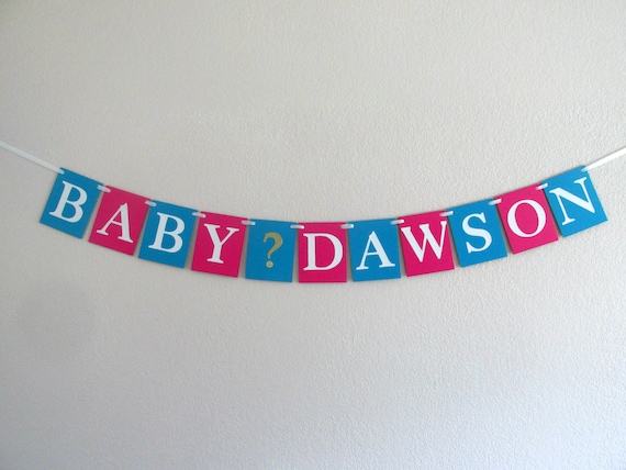 Gender Reveal Party Banner Gender Reveal Decorations Boy or Girl Banner Baby Shower Banner Gender Neutral Shower Decor Reveal Photo Prop