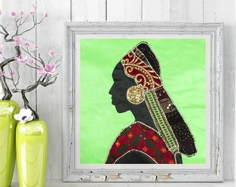 Africa Woman Wall Art
