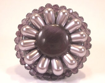 French chic luxe etsy for Crystal bureau knobs