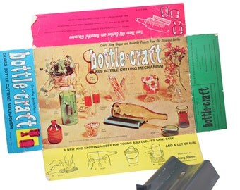 Vintage 1970s Retro Glass Bottle Cutter Cutting Kit w/ Original Packaging