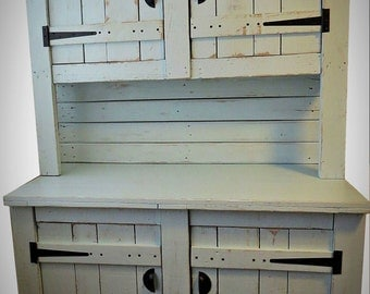 Kitchen Dresser free standing painted kitchen dressers kitchen lardersblue cupboard in basement Handmade Kitchen Dresser