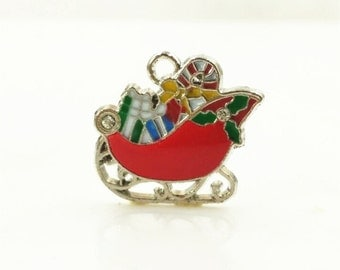 Free shipping wholesale 20pcs lovely 2015 new design christmas epoxy charms