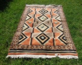 Vintage geometric tribal Persian/oriental rug