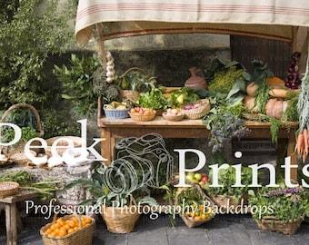 7ft.x5ft Farmers Market Vinyl Photography Backdrop- Studio Backdrop