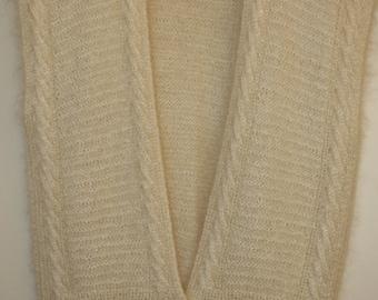 Ellen Tracy Cream Mohair Vest Sweater size 12