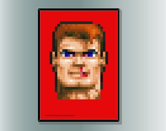 Wolfenstein 3D Game-inspired Pixel Art Poster Print designed by Cult.Graphics