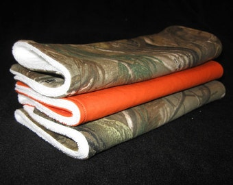 Hunting Camo Burp Cloths, Set of 3