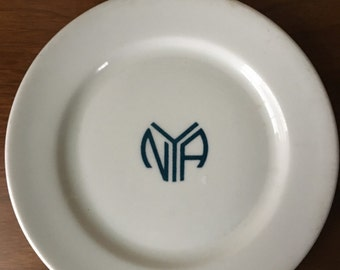 National Youth Administration Pottery Roosevelt New Deal WPA Plate