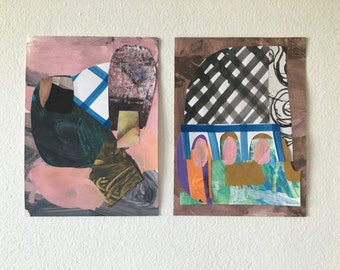 Abstract collage pair no.2