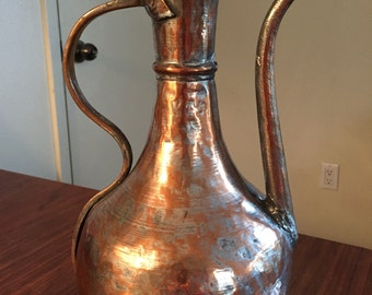Antique Copper Amphora
