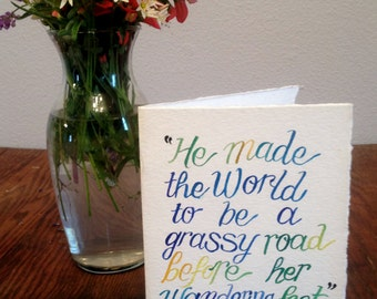 W. B Yeats quote card