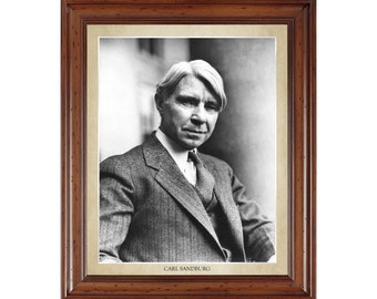 Carl Sandburg portrait; 16x20 print on premium heavy photo paper