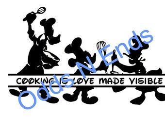 Disney Cutting board SVG