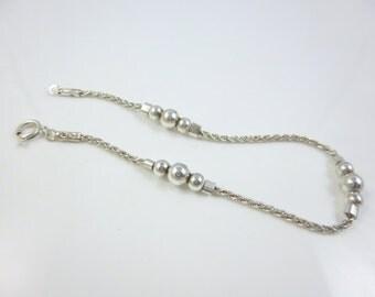 Dainty Silver Bracelet,  Silver Bead Bracelet