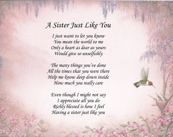A Sister Just Like You Poem