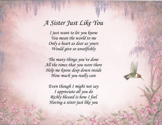 A sister just like you quote