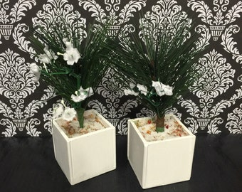 Wooden planters for dolls house