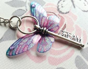Magical Dream winged-key keyring