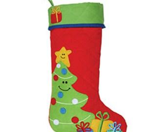 Stephen Joseph Christmas stocking, cute stocking, personalized Christmas stocking