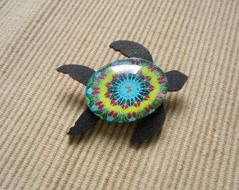 Brooch, sea turtle (1866)