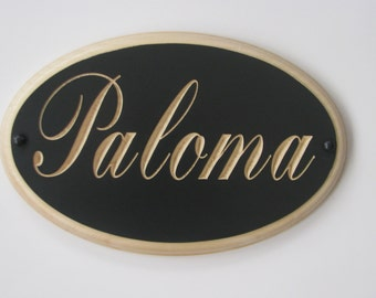 Custom Engraved Horse Stall Sign  Personalized Horse Name Plate