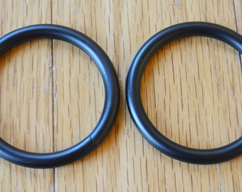 """2 Pieces Of 2"""" Black Steel O-rings"""