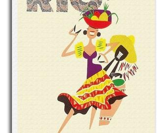Rio Brazil Print Vintage Travel Poster Retro Home Decor Art xr938