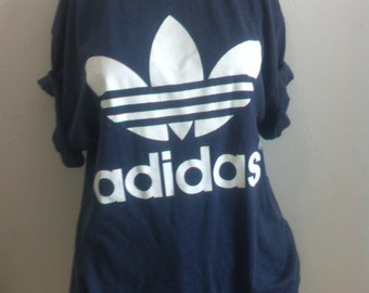 blue adidas t-shirt size mens large