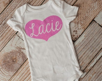 Personalized Valentine's Day Bodysuit for Baby, Newborn, or shirt for toddler