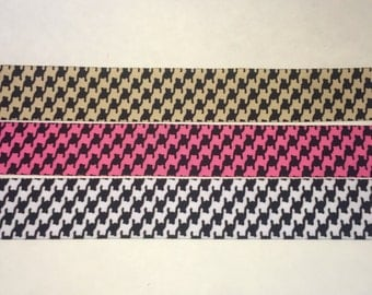 Houndstooth Ribbon Combo ~ Approx 12 yards