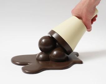 Gelato di umani-dimensione - cioccolato