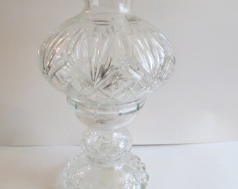 Glass Oil Candle Lamp  11''  tall
