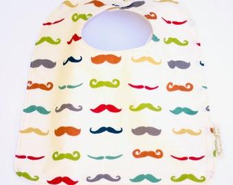 Moustache Bib, Hipster Baby Bib, Organic Hipster Baby Gift, Toddler Bib, Feeding Bib, Baby Girl Bib, Baby Boy Bib, Adjustable Baby Bib