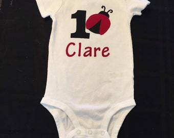 1st Birthday Ladybug outfit personalized with name!