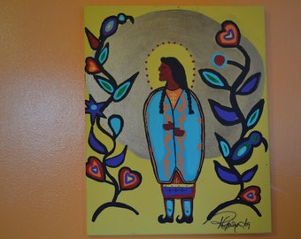 "Painting ""Lily of the Cree"" in Acrylics"
