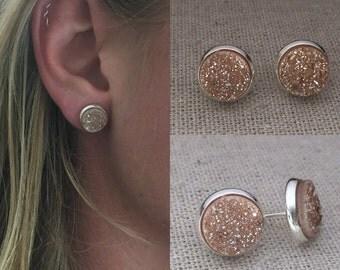 Druzy Studs // Drusy Stud Earrings // Druzy Earrings