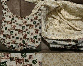 Christmas gift bag, gifts for her, seasonal bag, overnight bag, hobo bag, cross body bag, gift bag