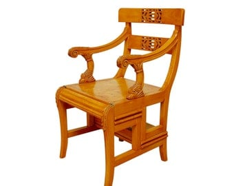 English Regency Metamorphic Library Step Chair
