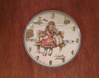 Lets Be Friends, 8 1/4 inch clock plate