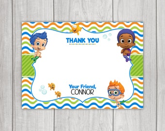 Bubble Guppies 'Thank You' Card