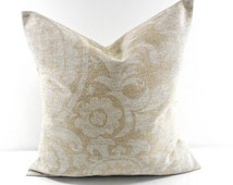 On Sale BEIGE PILLOW cover.  Suzani in cloud denton.Pillow cover. textured. Cushion cover.Sham cover. cushion cover.Beige throw pillow