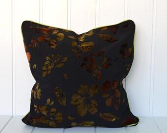 Oriental pillow,Flower pillow,black pillow, Throw pillow, pillow shams, toss pillows, decorative pillow cover, cushion, accent pillow