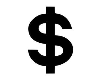 Dollar/Money Sign - Car/Truck/Home/Laptop/Computer/Phone Decal