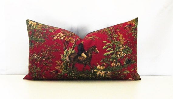 Ralph Lauren Decorative Pillow Cover Equestrian-Red-13x23