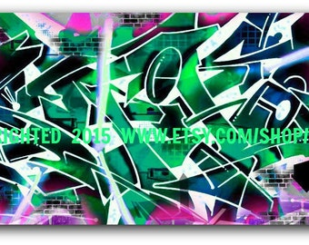 Your Name in Graffiti Art Canvas