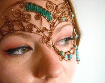 Halloween/Copper Wire/Steampunk Mask/Handmade