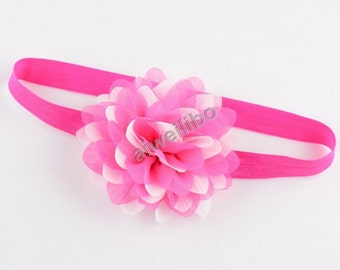 Chiffon Flower Headband, Flower Baby Girl Headband, Wedding Headband