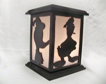 Donald Duck wooden lantern