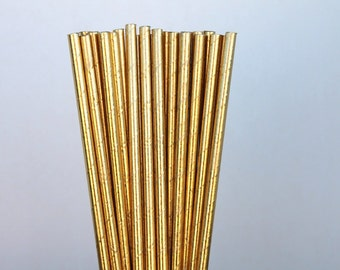 25 Gold Foil Paper Straws birthday party  weddings baby shower P-54