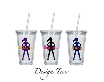 Personalized Cheerleading Tumbler, 21 Color Options